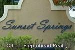 sign for Sunset Springs