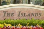 The Islands community sign